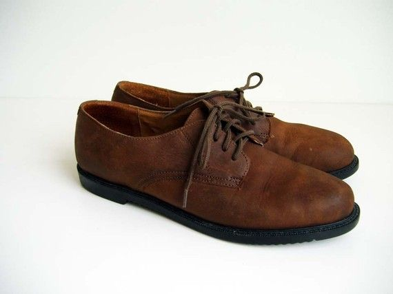 Vintage Brown Suede Oxford Shoes. for my man