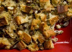 Mushroom and Fennel Bread Pudding | Recipe