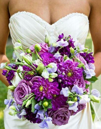 Purple Backyard Wedding : Found on weddingkeepcom