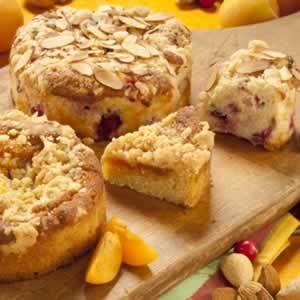 Cranberry Almond/Apricot Coffee Cakes - We have created two new coffee ...