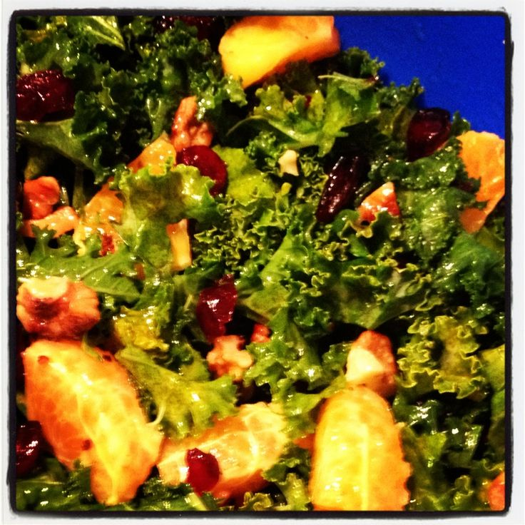 Kale Citrus Salad with Cranberries & Toasted Walnuts - Super Yummy ...