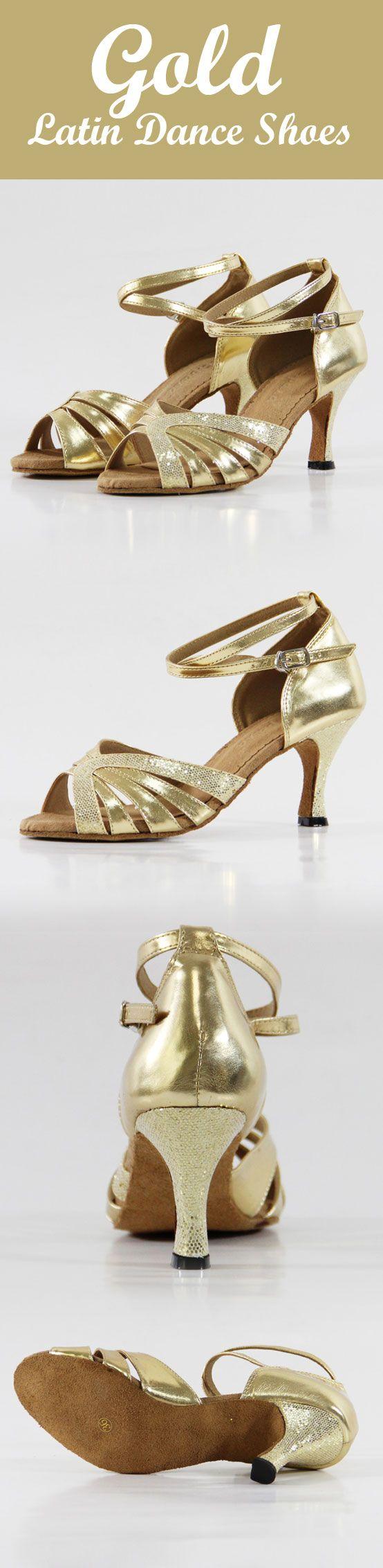 9amlatin.com: Latin Dance Shoes for Women. Color: Gold. Shoe size: US4
