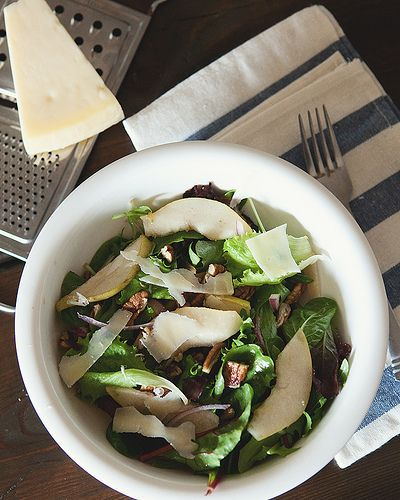 simple salad & dressing | Vegetarian | Pinterest