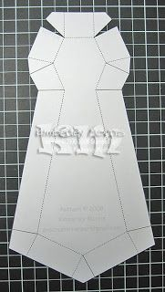 tie shaped father's day card
