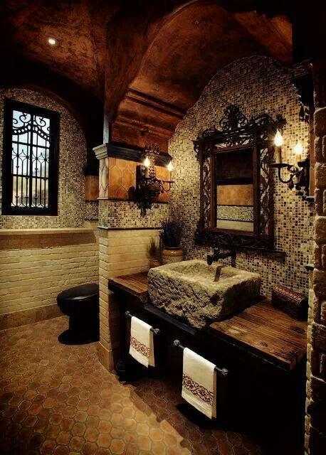 That 39 s haute old world rustic bath bathroom ideas for Old world bathroom ideas