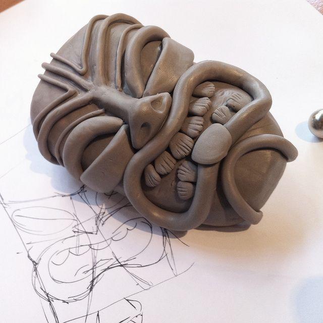 clay tiki mask