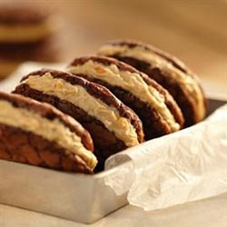 Peanut Butter Whoopie Pies! Holy moly! These little sandwiches are so ...