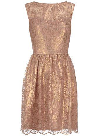 Pink foil lace dress $21