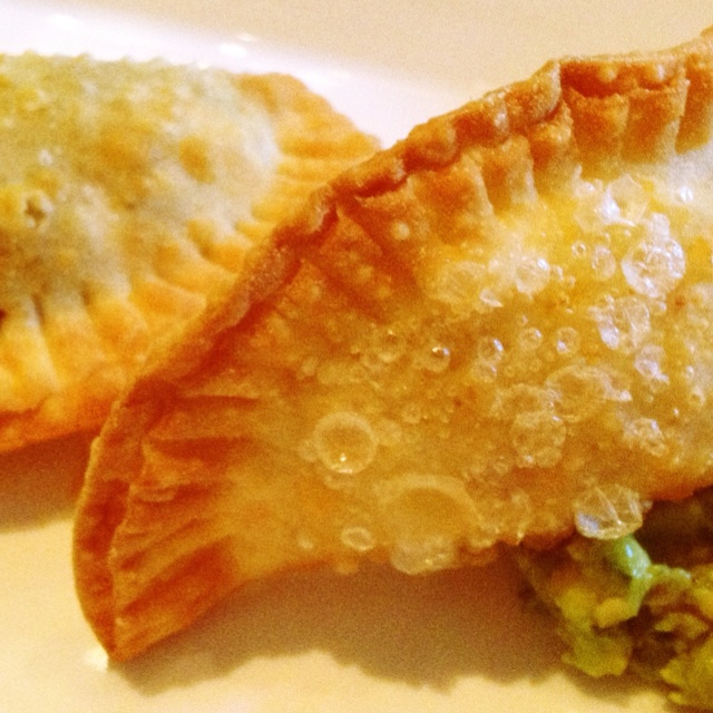 Empanadas sample (beef, chicken, sweet corn and vegetarian) from La ...