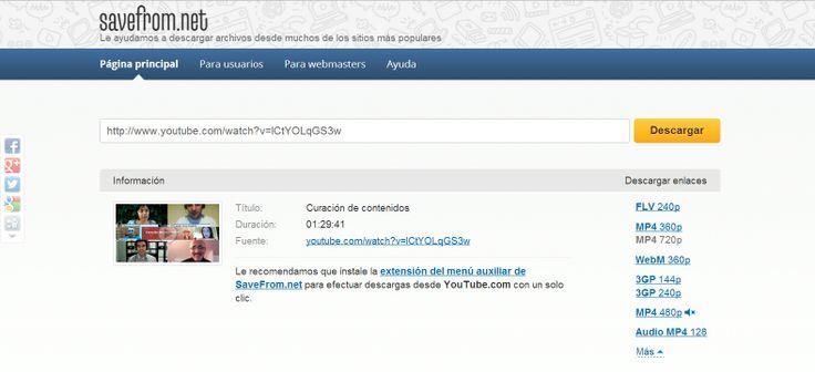 Descarga de vídeo con Savefrom.net