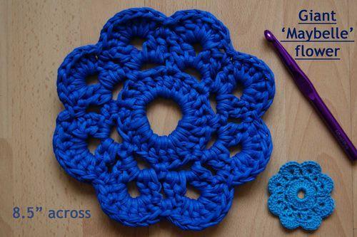 Giant Crochet Flower Pattern : Giant Maybelle flower web Crochet Pinterest