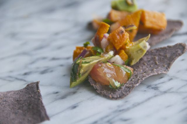 roasted sweet potato salsa | Eat it | Pinterest