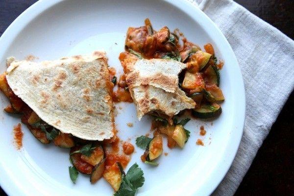 zucchini quesadilla | veggies | Pinterest