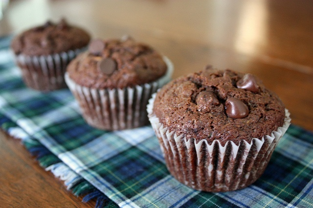 Chocolate Zucchini Muffins | Sugary Goodness | Pinterest