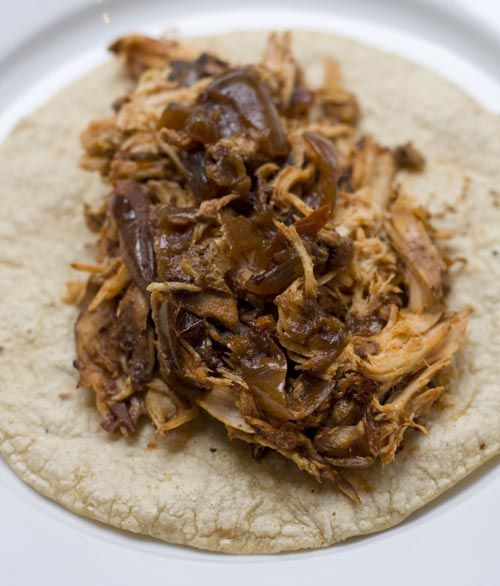 Chile chicken tacos in the slow cooker   main dishes   Pinterest