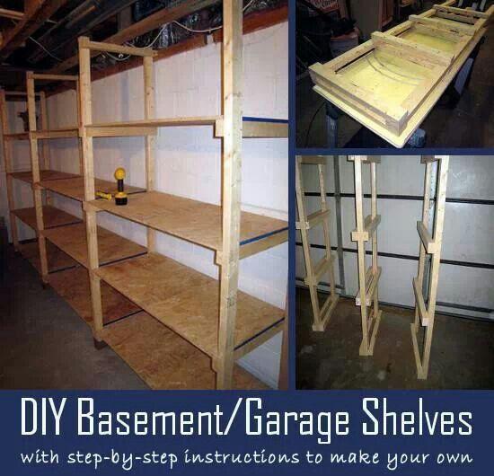 diy basement shelves for the home garden pinterest