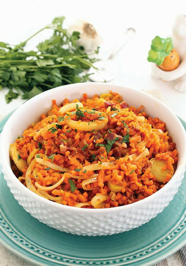 Splash bacon into this quick and easy carrot and rice risotto.