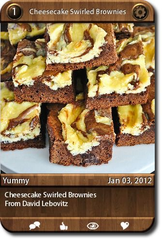 Cheesecake Swirled Brownies | Desserts | Pinterest