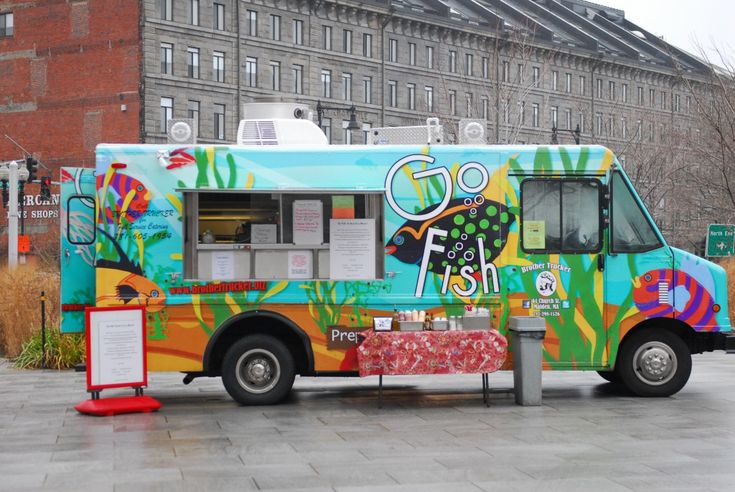 Cool design on the go fish food truck food truck ideas for Cool food truck designs
