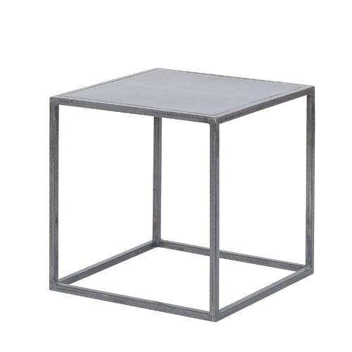 Table Basse Carrae : Table basse carrée en métal Noho Jardin dUlysse