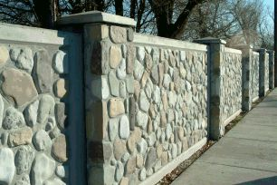 concrete that looks like stone..... Fences Pinterest