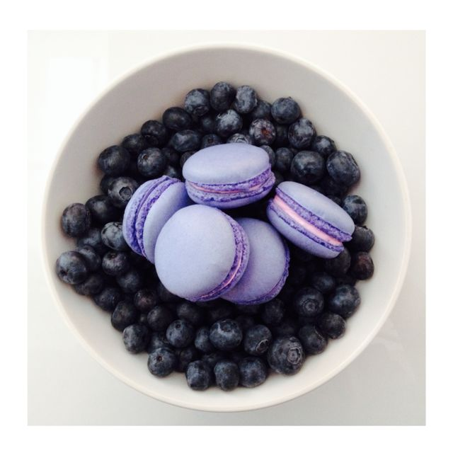 Blueberry Macarons. www.SwallowMyWords.com