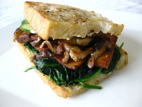 Grilled Tofu Sandwich, Going to try this someday.