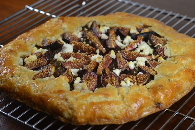 Fig and Balsamic Onion Galette wit Goat Cheese