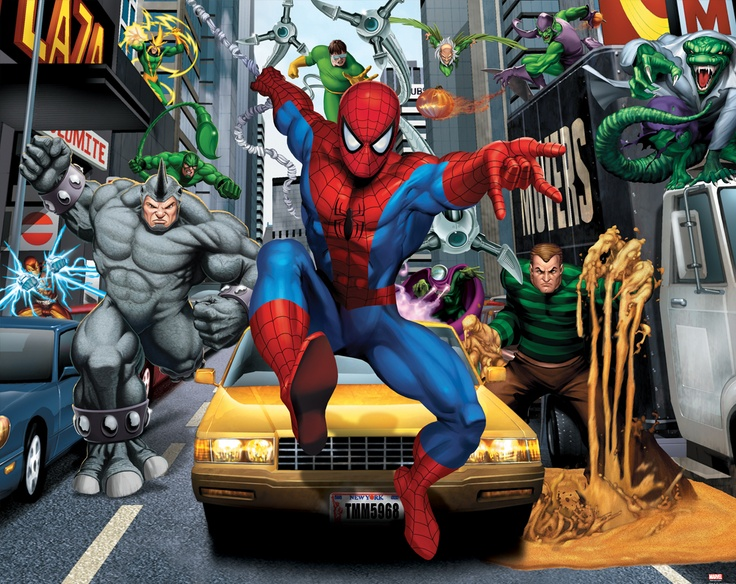 spiderman wall mural childrens bedroom feature walls