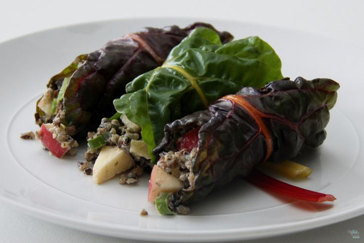 Apple Wild Rice Salad Wraps | Sides..Salads...Breads | Pinterest