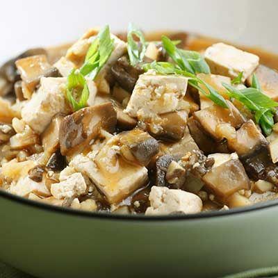 Chinese Braised Mushrooms & Tofu {gluten free -use tamari and GF broth ...