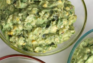 Grilled Corn and Poblano Guacamole | Sweet Eats | Pinterest