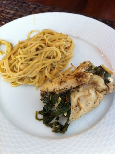 Feta, Spinach And Caramelized Onion Stuffed Chicken Breasts Recipe ...