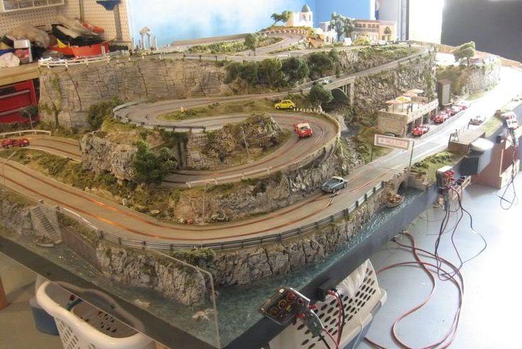 home slot car track layouts