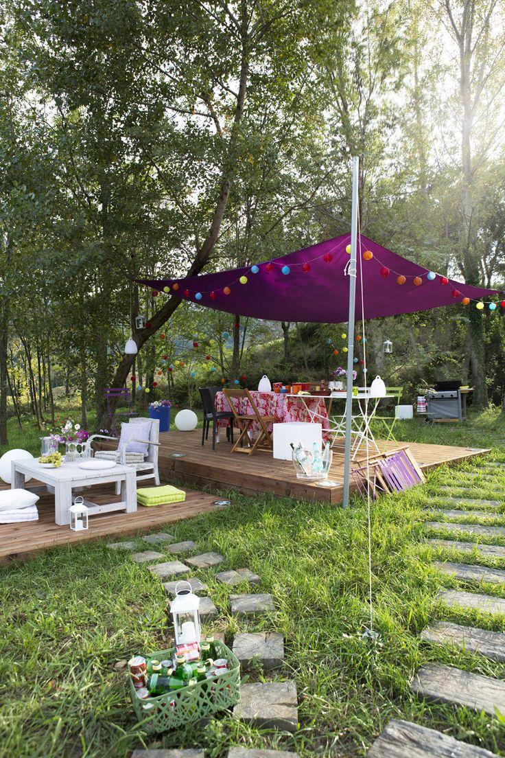 Lame bois pour terrasse  Jardin  Pinterest
