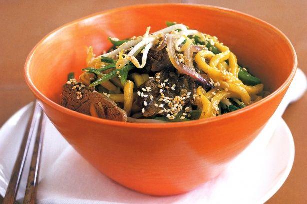 Sesame teriyaki beef & noodle stir-fry | FOOD :D | Pinterest