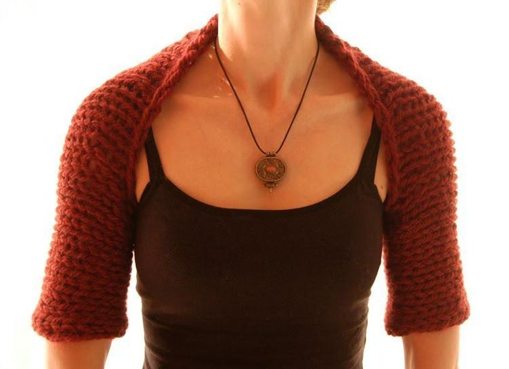 a Simple Shrug Knit Ideas Pinterest