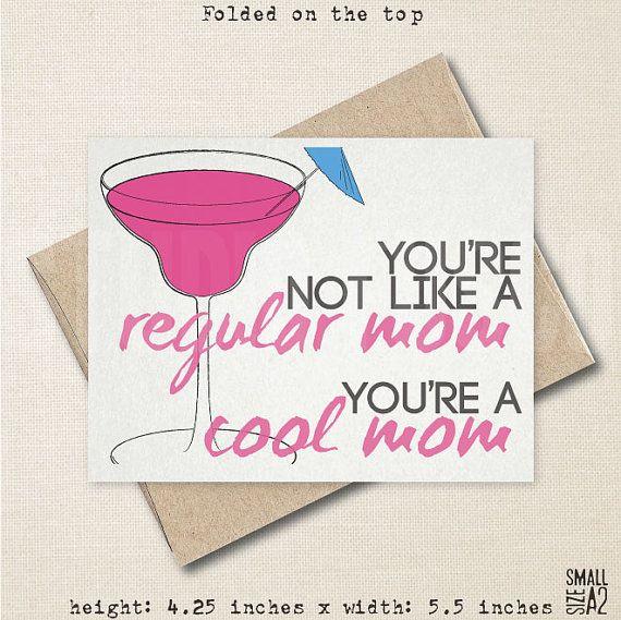 regular mom cool mom card