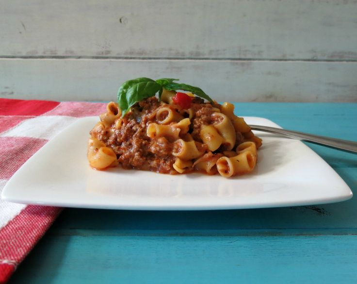 Quick and Easy Goulash - skip the cheese