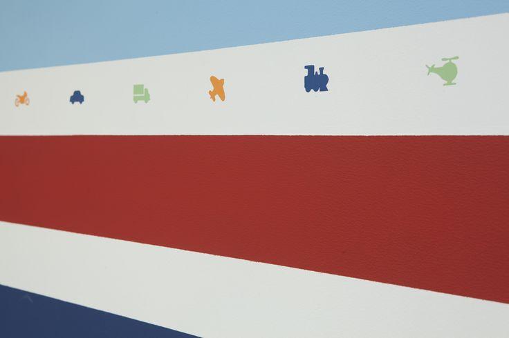 Listras coloridas e meios de transporte