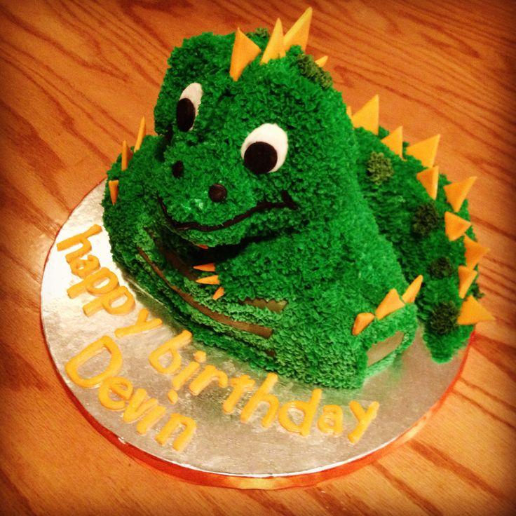 how to make a 3d dinosaur cake