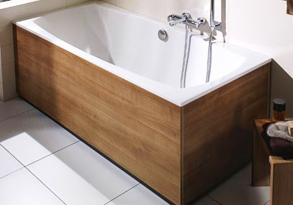 Badewanne mit Holzverkleidung  For the Home  Pinterest