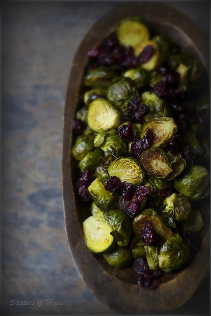 Brussels Sprouts With Balsamic And Cranberries Recipe — Dishmaps