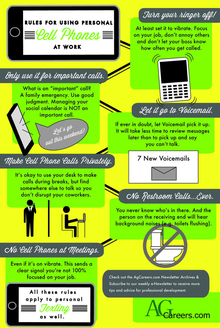 Stay focused while working and follow these tips for using your cell ...