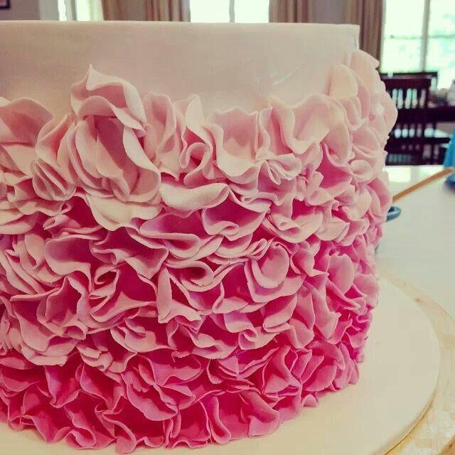 Cut Fondant Circles And Create Ruffles Cake Decorating