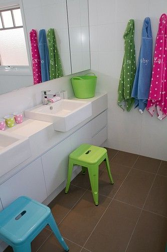 Bathroom for the kids in the bathroom pinterest for Kids bathroom ideas pinterest