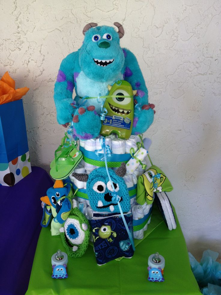 monsters inc diaper cake diy pinterest