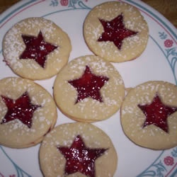raspberry star cookies @ allrecipes.com   Cookies   Pinterest