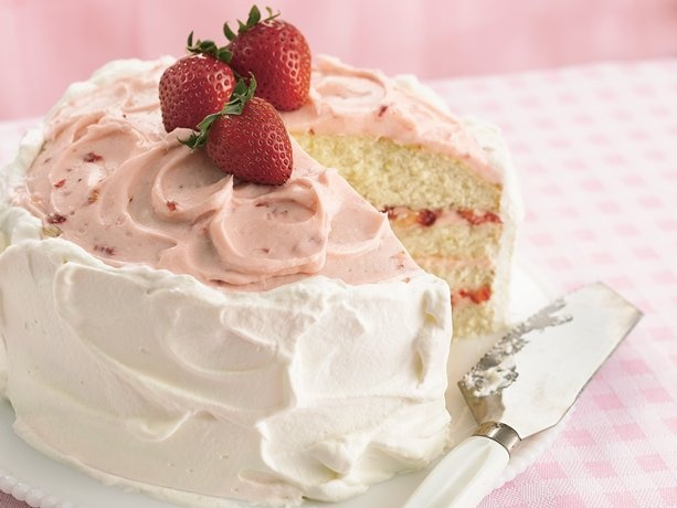 Strawberry-Lime Layer Cake...Fresh strawberries bring fruity flavor ...