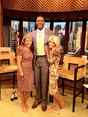 This photo of her and kelly ripa minus their heels up next to ripa